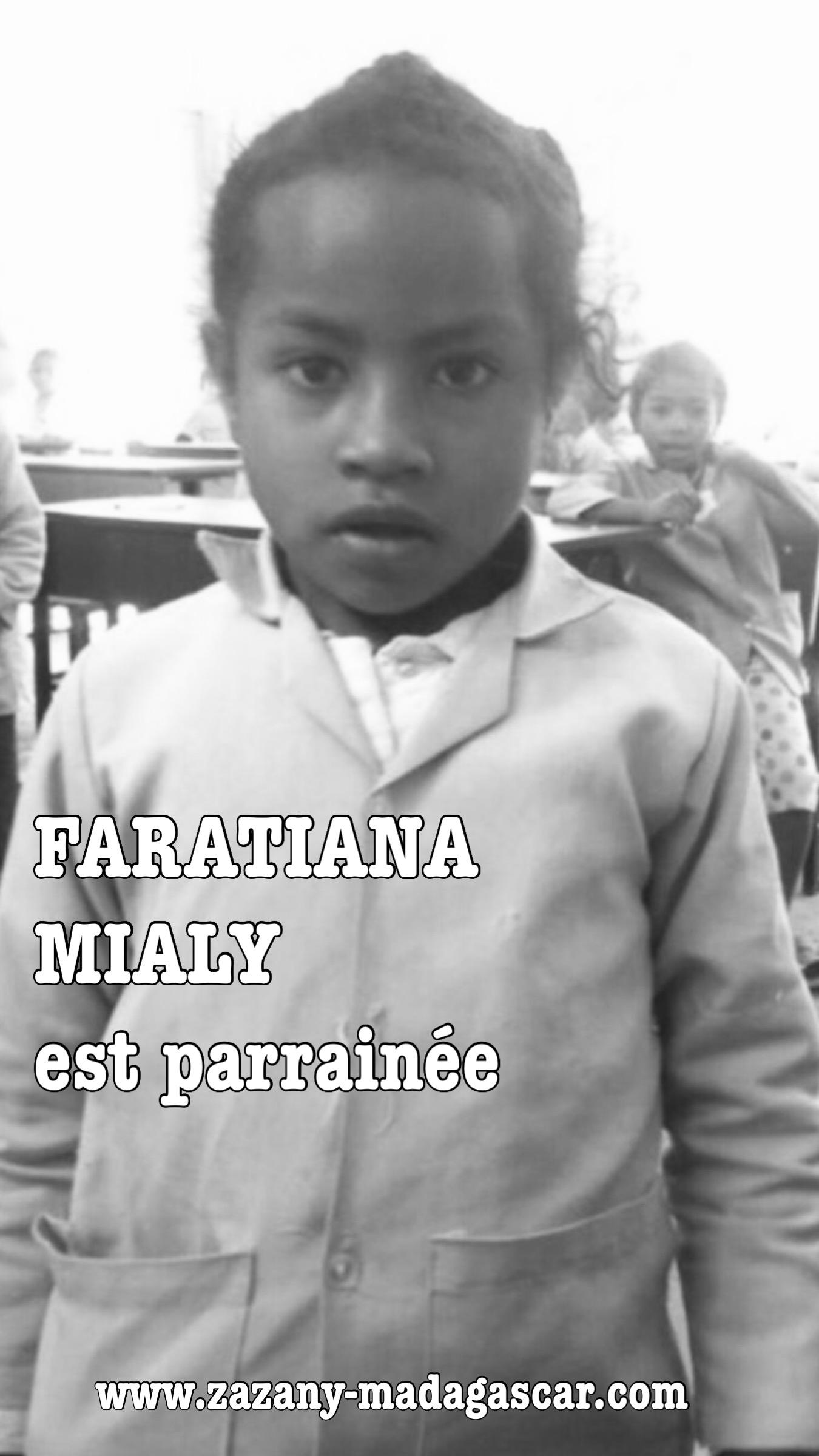 Faratiana - Filleule Zazany Madagascar - Mahamasina Est
