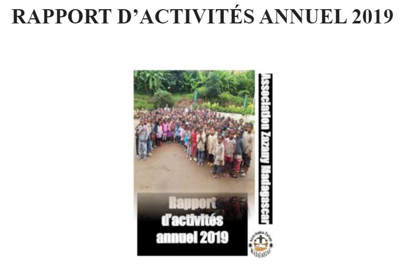 Rapport d'activités annuel 2019