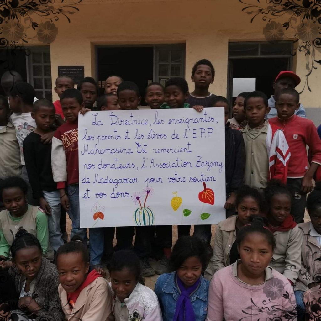EPP Mahamasina remercie les donateurs