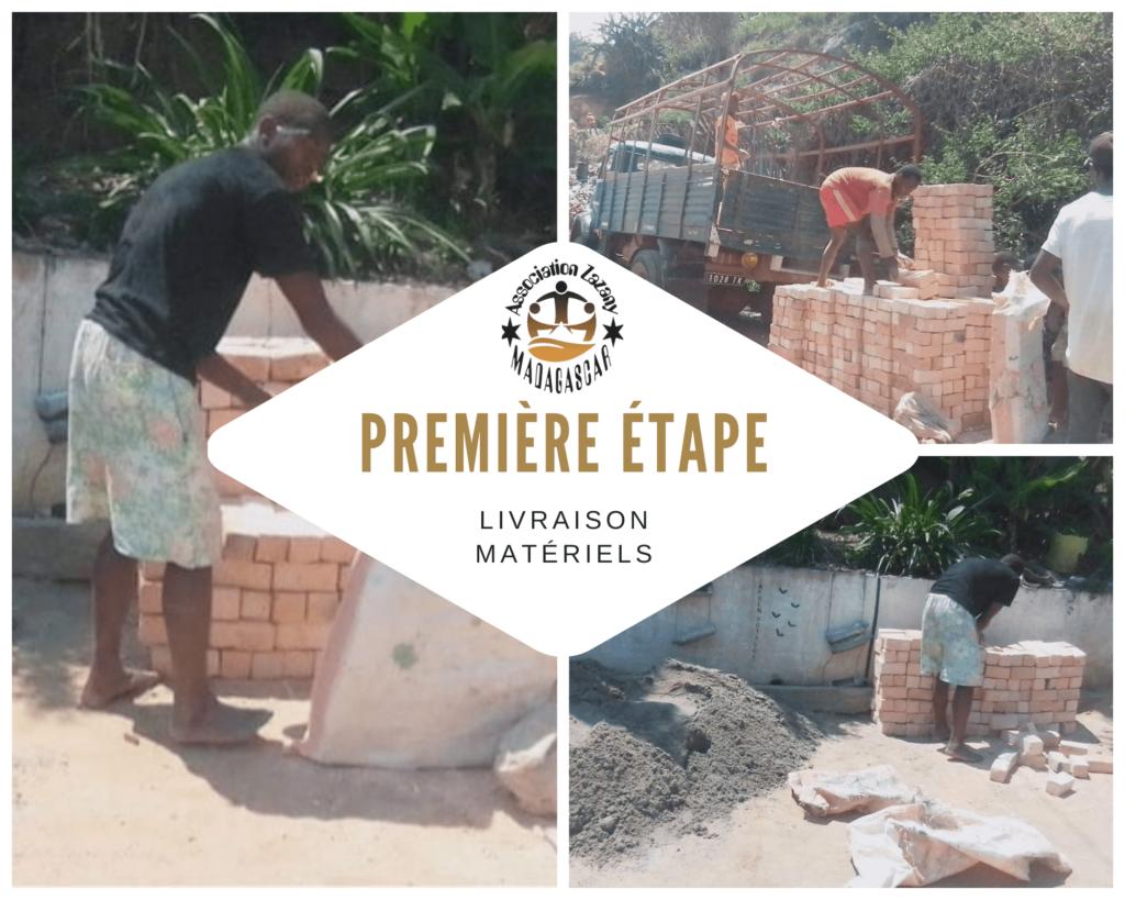 Création de canal d'évacuation d'eau - EPP Anosisoa Madagascar