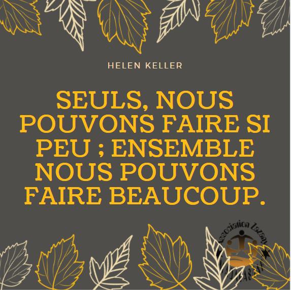 Citation Helen Keller - Ensemble nous pouvons faire beaucoup