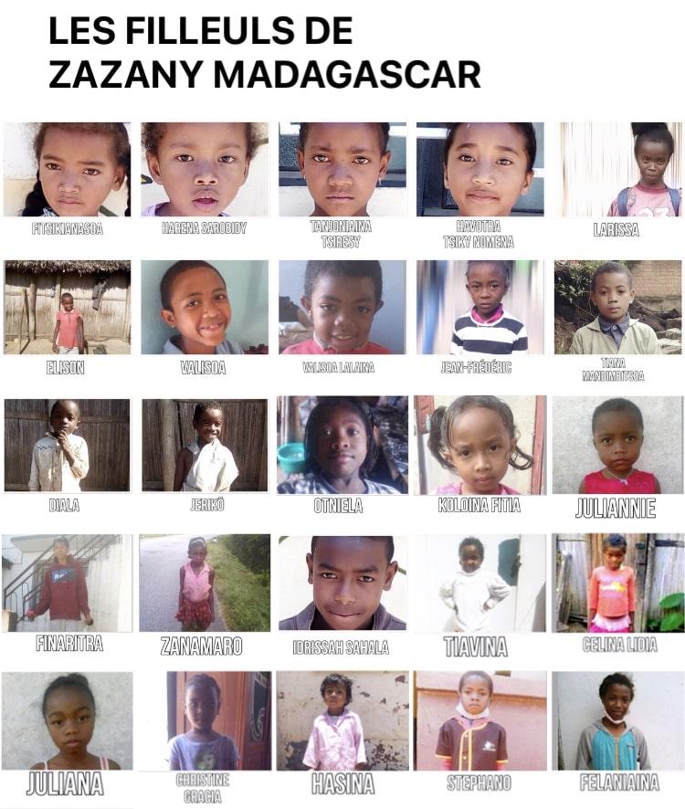 Les filleuls de Zazany Madagascar