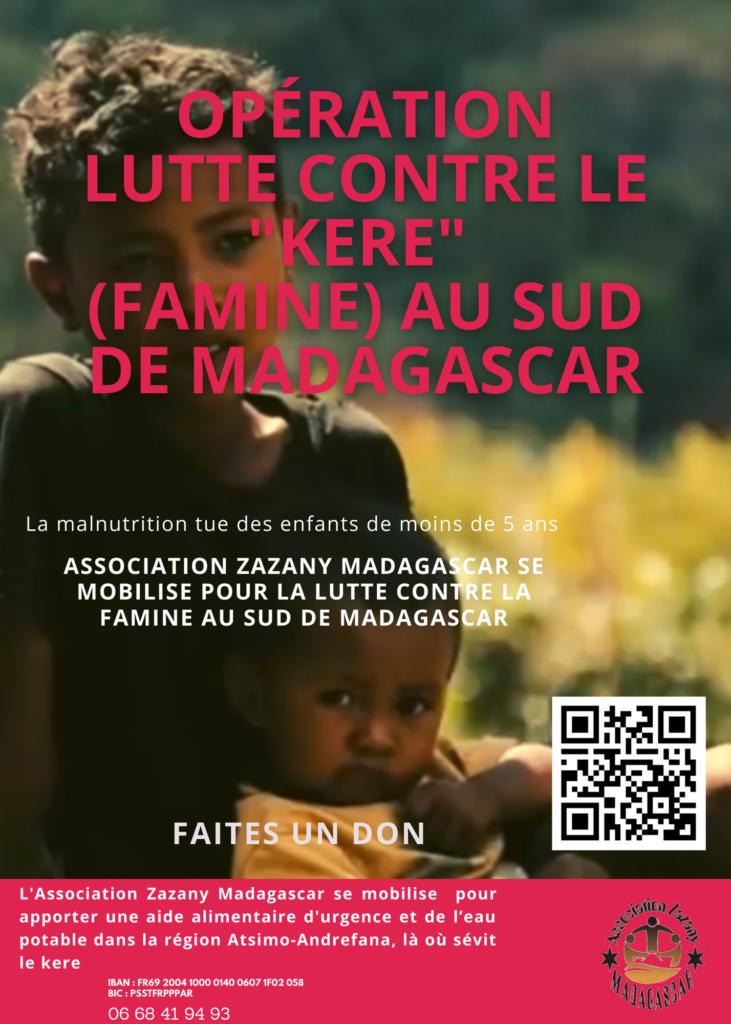 Opération Lutte contre le kere Famine dans le sud de Madagascar