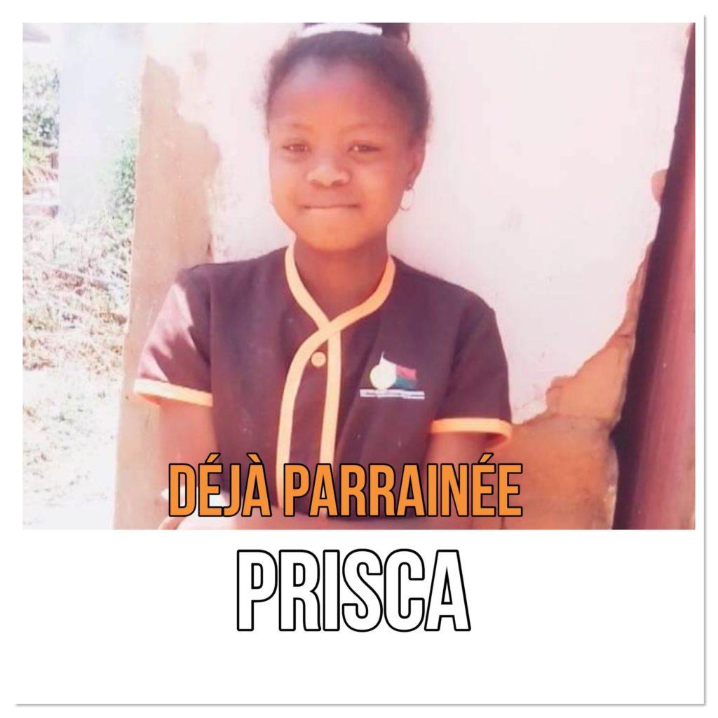 Prisca est parrainée au sein de Zazany Madagascar