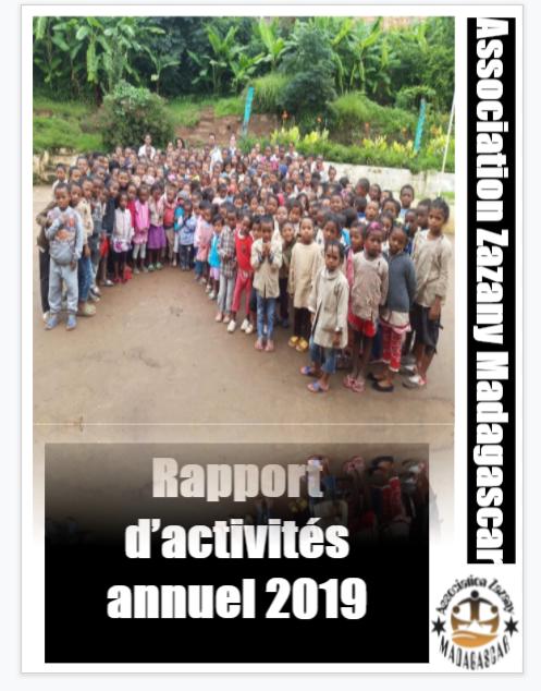 Rapport d'activités annuel 2019 - Association Madagascar