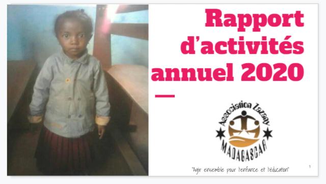 Rapport d'activités annuel 2020 - Association Madagascar